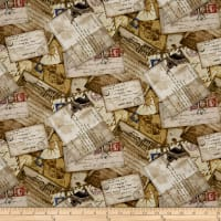 Dear Friends Tossed Postcards Parchment/Multi