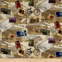 Dear Friends Travel Collage Cream/Multi