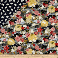 The Moon Rabbit Double Faced Diamond Quilted Gray/Multi