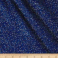 Seasons Greetings Random Dots Metallic Navy