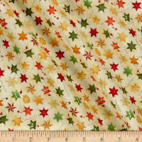 Seasons Greetings Whimsical Stars Metallic Cream/Multi