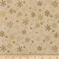 Holiday Editions Snowflakes Metallic Cream