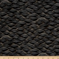 Kaufman Imperial Collection Black Waves Black