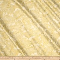 Kaufman Imperial Collection Ivory Chrysanthum Metallic Ivory