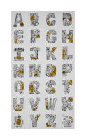 "Kaufman Lettered Alphabet 24"" Panel Sunflower"