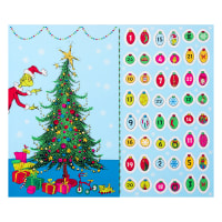 "Kaufman Grinch Advent Calendar 36"" PanelHoliday"