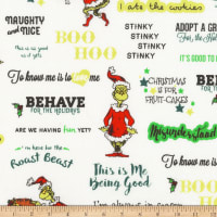 Kaufman Grinch Words Holiday