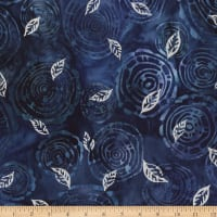 Kaufman Northwoods Batik Foliage Metallic Winter