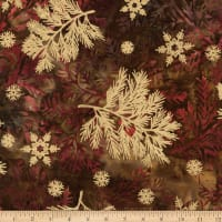 Kaufman Northwoods Batik Branches Metallic Forest