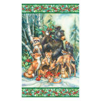 "Kaufman Season Of Peace Holiday Animal 24"" Panel Multi"
