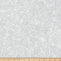 Kaufman Winter White 3 Branches Metallic Ice