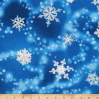 Kaufman Winter's Grandeur Snowflakes Metallic Evening