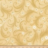 Kaufman Winter's Grandeur Swirls Metallic Ivory