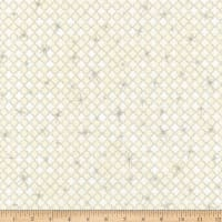 Kaufman Winter's Grandeur Diamonds Metallic Cream