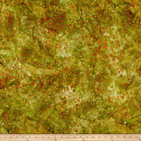 Kaufman Cornucopia Branches Leaves Batik Grass