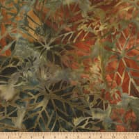 Kaufman Cornucopia Fall Maple Leaves Batik Olive