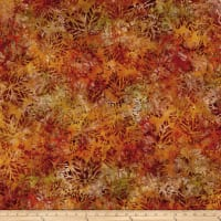 Kaufman Cornucopia Fall Maple Leaves Batik Pumpkin