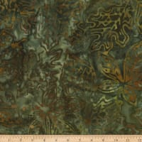 Kaufman Cornucopia Fall Leaves Batik Olive