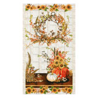 "Kaufman Shades Of The Season Wreath 24"" Panel Harvest"