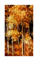 "Kaufman Sound Of The Woods Tree 24"" Panel Autumn"