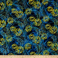Blossom Batiks Valley Floating Flowers Marigold