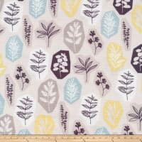 Cloud 9 Organics Sow & Sew Garden Party Canvas White/Blue