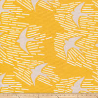 Cloud 9 Whitehaven Birds Canvas Organic Gold