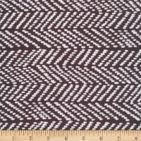 Cloud9 Fabrics Organic Terrestrial Herringbone Canvas Black