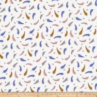 Cloud 9 Sweet Nothings Poplin Feathers Organic White/Multi - Exclusive