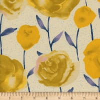 Cotton + Steel  Firelight  Roses  Yellow