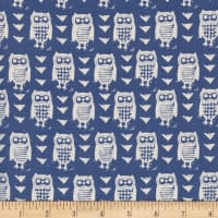 Cotton + Steel Firelight  Hooties  Blue