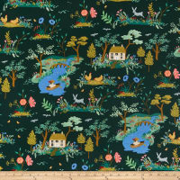 Cotton + Steel Rifle Paper Co. English Garden Garden Toile Dark