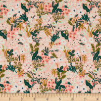 Cotton + Steel Rifle Paper Co. English Garden Meadow Pink