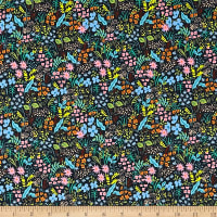 Cotton + Steel Rifle Paper Co. English Garden Meadow Navy
