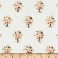 Cotton + Steel Rifle Paper Co. English Garden Bouquets Cream