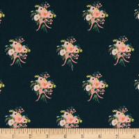Cotton + Steel Rifle Paper Co. English Garden Bouquets Navy