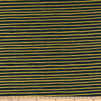 Cotton + Steel Rifle Paper Co. English Garden Stripes Metallic Navy