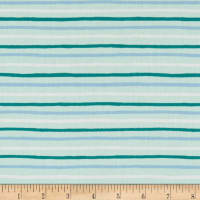 Cotton + Steel Rifle Paper Co. English Garden Stripes Mint