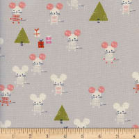 Cotton + Steel Frost Little Friends Unbleached Natural