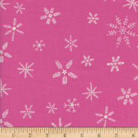 Cotton + Steel Frost Flurry Unbleached Pink