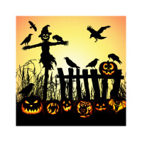 "Hoffman Digital Supernova Seasons 43"" Scarecrow And Jack-O-Lantern Panel Harvest"