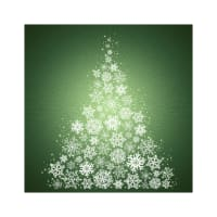 "Hoffman Digital Supernova Seasons 43"" Snowflake Tree Panel Pine"