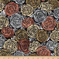 Precious Metals Candied Roses Glitter Radiant Rose Gold