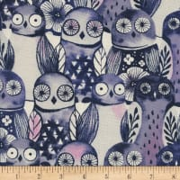 Cotton + Steel Eclipse Wise Owls Night