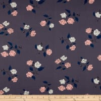 Cotton + Steel Steno Pool Roses Shadow