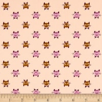 Cotton + Steel Steno Pool Calicocats Peach