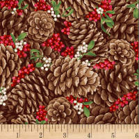Let It Sparkle Pretty Pine Cones  Radiant Metallic Berry