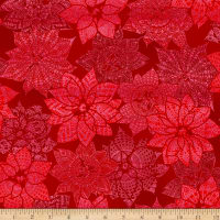 Let It Sparkle Christmas Crochet Radiant Metallic Ruby