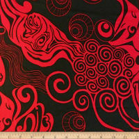 Liverpool Double Knit Underwater Red/Black