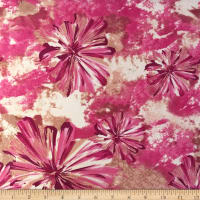 Liverpool Double Knit Splash Floral Pink/Rose